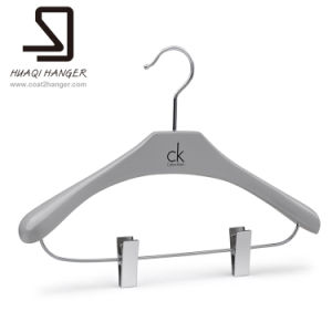 Wooden Garment Hanger of Bar with Clip pictures & photos