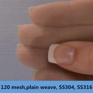 120 Mesh, 0.08 mm Wire Dia, . Plain Weave, SS304, 304L, 316, 316L Wire Mesh pictures & photos