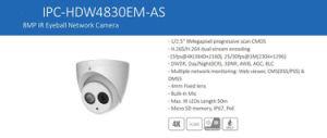 Dahua 8MP IR Eyeball Security Digital IP Camera (IPC-HDW4830EM-AS) pictures & photos