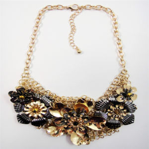 New Item Flower Steel Part Chain Fashion Jewellery Necklace pictures & photos