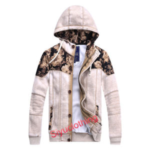 2015 Latest Design Flower Printed Mens 100%Cotton Hoodie Sweater (J-1623) pictures & photos