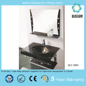 Water Transfer Printing Process Wall-Mounted Glass Wash Basin (BLS-2083) pictures & photos