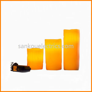 Electric Rechargeable Wax Candle, Restaurant Fickering Flameless Candle