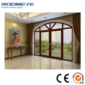 Roomeye Professional Manufacturer of Arch Soundproof Aluminum Casement Door pictures & photos