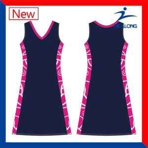 Healong Latest Full Sublimation Netball Dress pictures & photos