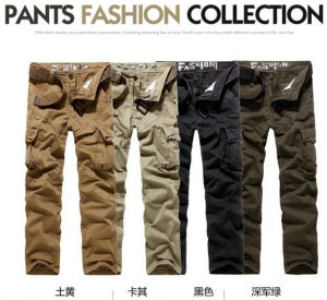 Men Fashion Cotton Soft Garment Dyed Cargotrousers Pants pictures & photos