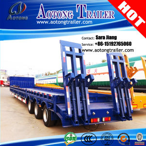 60-80t Low Bed Semi Trailer/Low Loader Traile with Side Wall pictures & photos
