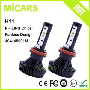 Latest New Product Philips LED 4500lm H11 Car LED Headlight pictures & photos