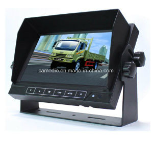 7 Inch Touch Button Digital LCD Monitor Rear View with Speaker for Vehicles pictures & photos