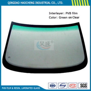 Thick 0.76 mm Green on Clear PVB Film for Auto Windshield Glass pictures & photos