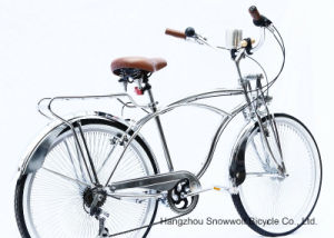 New Chrome 7 Speed Hi-Ten Low Rider Beach Cruiser Bicycle (ARS-2680S) pictures & photos
