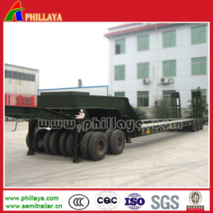 Hydraulic Semi Lowbed /Low Loader Truck Trailer with Dolly Optional pictures & photos