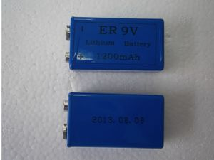 9V Lithium Battery 1200mAh Non-Rechargeable Battery Cross for 6f22 pictures & photos