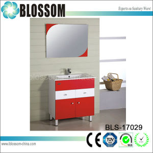 Four Metal Legs Modern PVC Bathroom Vanity Set (BLS-17029) pictures & photos