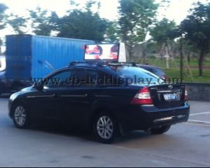 Double Sided P5mm Car Roof Sign LED /Taxi Top LED Display for Video Advertising pictures & photos