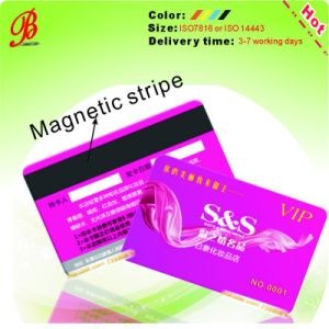 Popular Glossy PVC Card with Magnetic Stripe pictures & photos