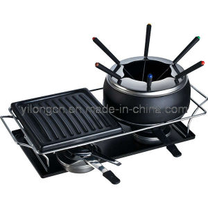 New Styled Nonstick Chocolate Fondue and Grill 2-in-1 (BC-J4)
