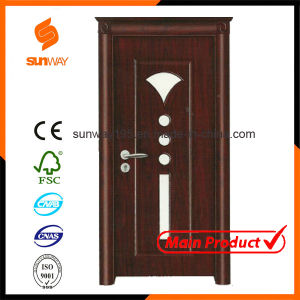 Quality Turkish Glass PVC Wooden Door with Certificate (SW-A001) pictures & photos