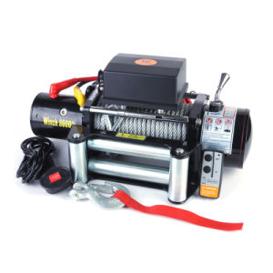 12V 8000lb Cable Winch with Full Steel Gears pictures & photos