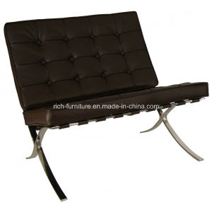 Stainless Steel Full Cow Leather Lounge Chair Barcelona Chair pictures & photos