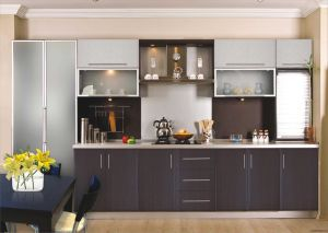 Ritz Custom Brown Acrylic Finish Kitchen Cabinet /Kitchen Furniture pictures & photos