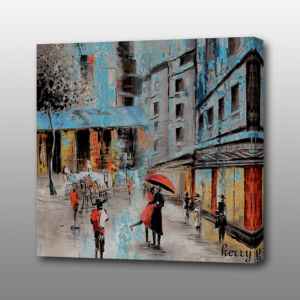 MP-537 Streetscape Print Canvas Oil Painting