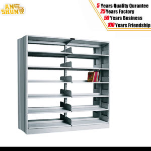 Double Sided Metal Bookshelf Steel Library Bookshelf pictures & photos