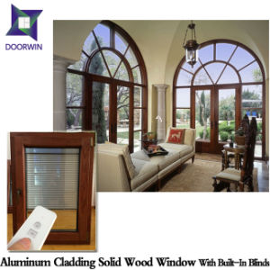 Inswing Aluminum Casement Window for Home Security, Aluminum Clad Wood Casement Window for Our Afghanistan Client pictures & photos
