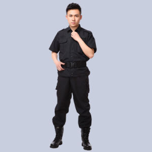 Custom Made Polyester & Cotton Black Guard Security Uniform pictures & photos