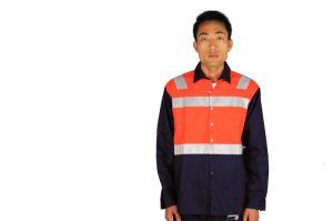 Orange Navy Hi Vis Reflective Safety Fire Protective Workwear pictures & photos