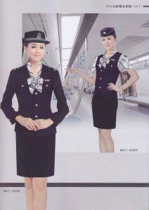 Wholesale Hot Sale Comfortable Sets Airline Stewardess Uniform pictures & photos