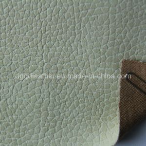 Two Tone Color Furniture PU Leather (QDL-FP0032) pictures & photos