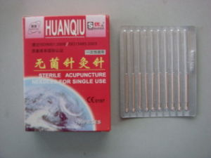 0.25X40mm Acupuncture Needle Without Tube, Silver/Copperr Handle - Huanqiu Brand pictures & photos