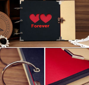 DIY Double Heart Shaped Hollow Photo Album pictures & photos