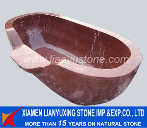 Red Marble Bathtub