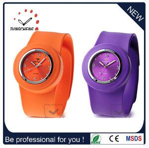 Adult Janpan Movement Quartz Silicone Band Slap Wrist Watch (DC-093) pictures & photos