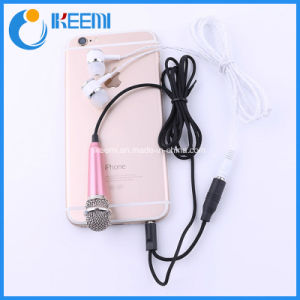 2016 New Products Wholesale Mobile Phone Karaoke Wired Microphone Hidden Singing Mini Microphone pictures & photos