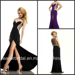 Sheer Back Fashion Evening Dress Vestidos Gowns Beading Prom Dresses Ld11510 pictures & photos