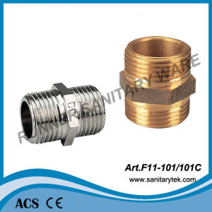Brass Nipple / Brass Pipe Fittings (F11-101/101C) pictures & photos