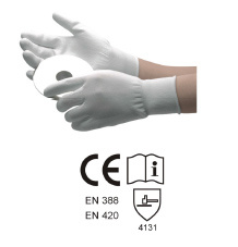 13 Guage Polyester/Nylon Liner Coated PU Gloves, Palm Fit Gloves pictures & photos