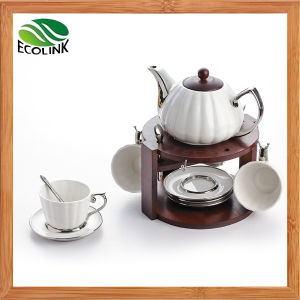 Fashion Silver Plated Ceramic Coffee Set pictures & photos