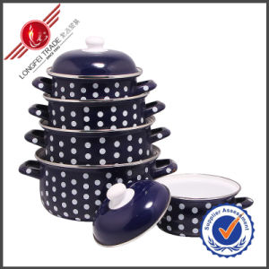 Hot-Selling Kitchenware Eco-Friendly Enamel Cookware Set pictures & photos