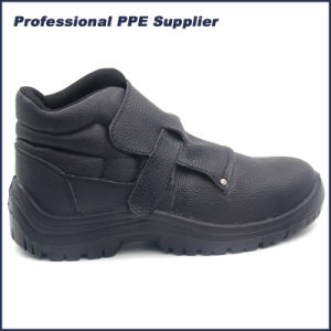 PU Injection Steel Toe Welder Safety Shoes pictures & photos