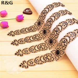 Hot Sales Hot Fix Crystal Beaded Rhinestone Mesh Trimming pictures & photos