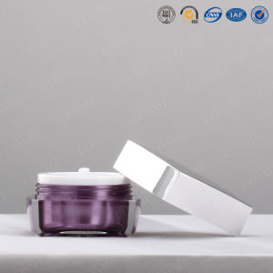 15g Square Acrylic Cream Cosmetic Jar for Packaging pictures & photos