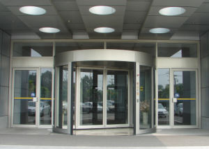Automatic Revolving Door, Two Wings, Lenze Motor, Sliding Auto Door Dunker Motor, Reverse Against Obstruction pictures & photos