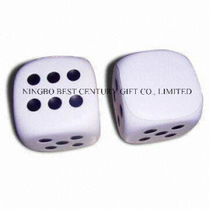 PU Foam Stress Reliever Gift Dice Shape with Dots