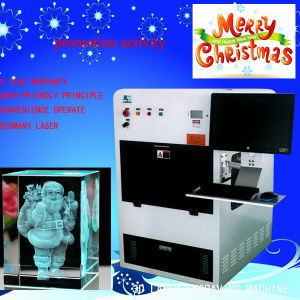 Business Idea DIY Gift Crystal CNC 3D Laser Engraving Machine Laser Engraver Hsgp-4kb pictures & photos