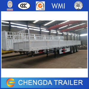 3 Axle Side Wall Can Knock Down Cargo Semi Trailer pictures & photos