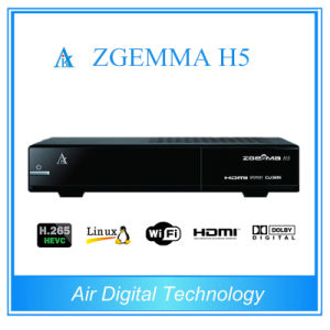 Zgemma H5 with Bcm73625 Dual Core Combo DVB-S2 DVB-T2/C Tuner Digital TV Receiver with H. 265 Decorder pictures & photos